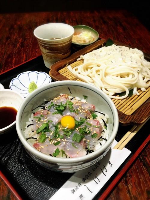 ひみうどんとミニ海鮮丼